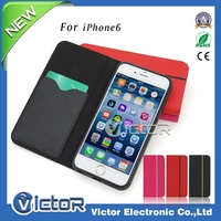 Hot sale Korean wallet leather case with card slot for iPhone 6