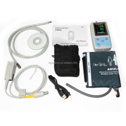 ambulatory handheld patient monitor 24 hours blood pressure monitor with Spo2 sensor PM50