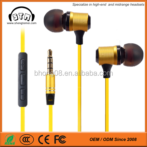 colorful flat 3.5mm In-Ear Earphones with mic microphone Distributor Reseller Opportunities
