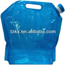 Eco-Friendly Large Capacity 5L Plastic Foldable Water Carry Bag