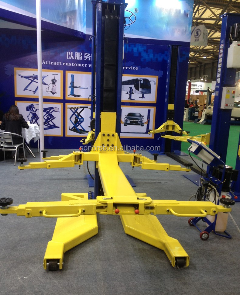 mobile single post car lift movable car lift hydraulic car lift