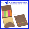 Promotional mini colorful cheap logo printed sticky memo pad note with kraft cover