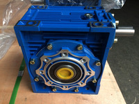 NMRV series speed transmission worm gearbox with electric motor for conveyor belts