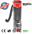 high power 3W wholesale best selling red rechargeable zoomable flashligh