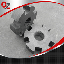 Anti-oxidation High Quality Degassing Graphite Rotor For Sale