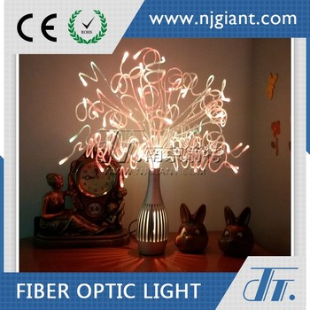 Colorful Decorative Indoor Led Fiber Optic Table Lights Led Art Light For Holiday Gift