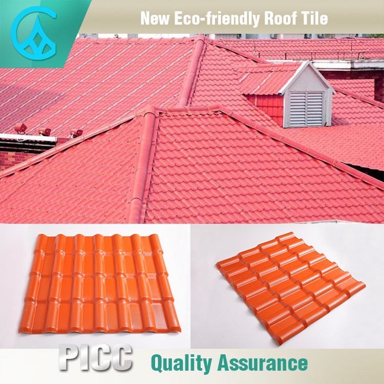 Spanish synthetic resin recycled new plastic roof tile for New roofing products