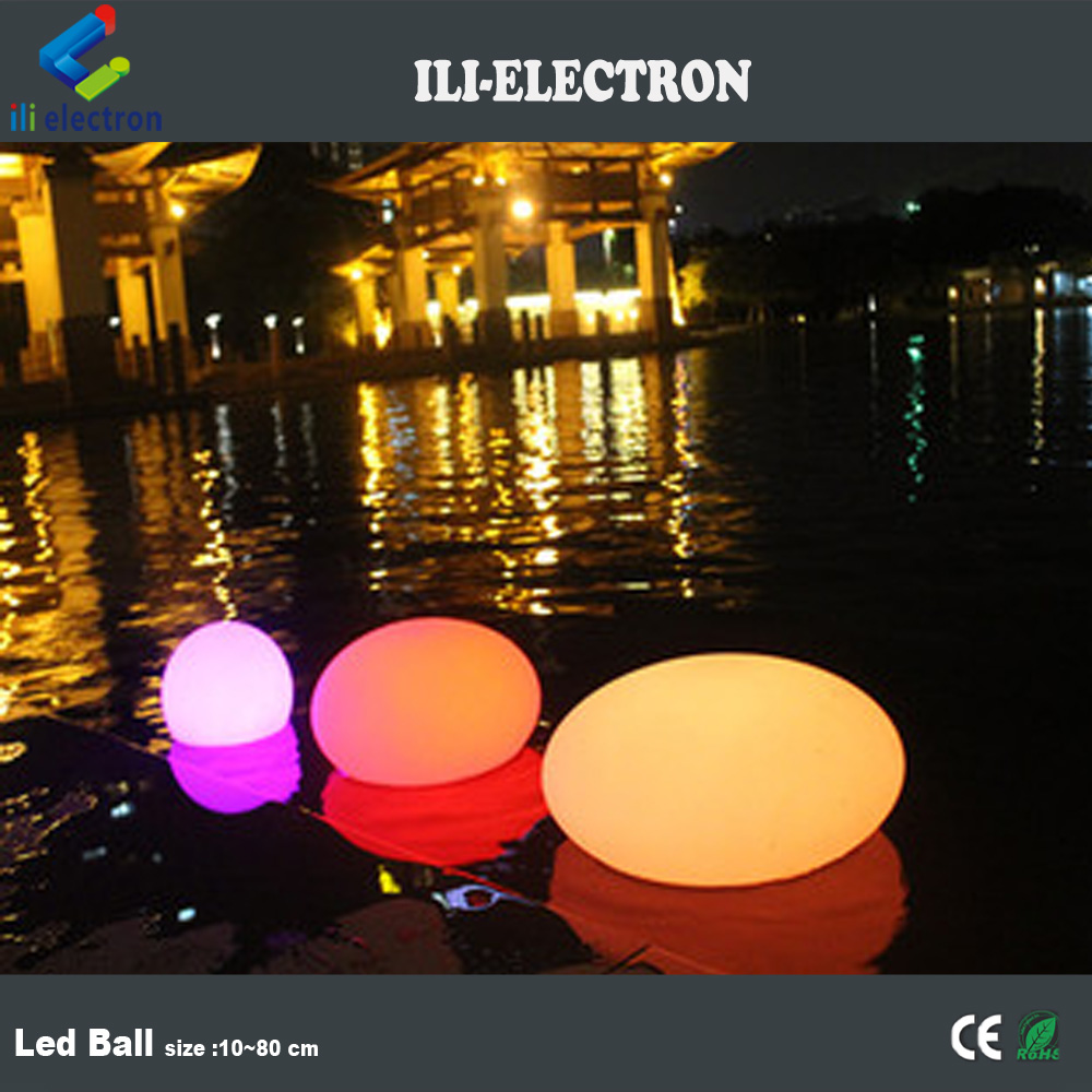 Waterproof egg shape PE plastic LED magic ball light/decorative lamps