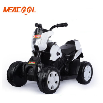 Wholesale battery operated four wheels kids electric motorcycle with music and LED light