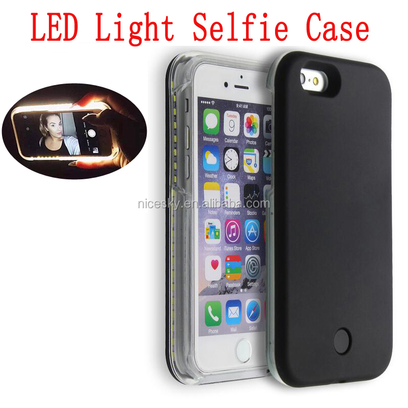 selfie Phone case For iPhone 7 7 PLUS 6 6s plus 5 5s case LED Selfie Case Light Flash Luminous Self Back Cover
