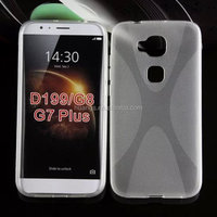 "Cell phone accessory ""X"" Line Design Frosted Surface Soft TPU Pudding Case for huawei d199 tpu cover factory price"
