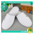 Coral Velvet Hotel Slippers / White Thick Velour Bathroom Slippers / Personalized Logo Fleece EVA Hotel Indoor Slippers