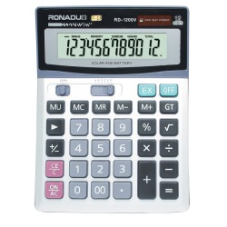 RD-1200V big size office desktop 12-digit calculator table calendar calculator