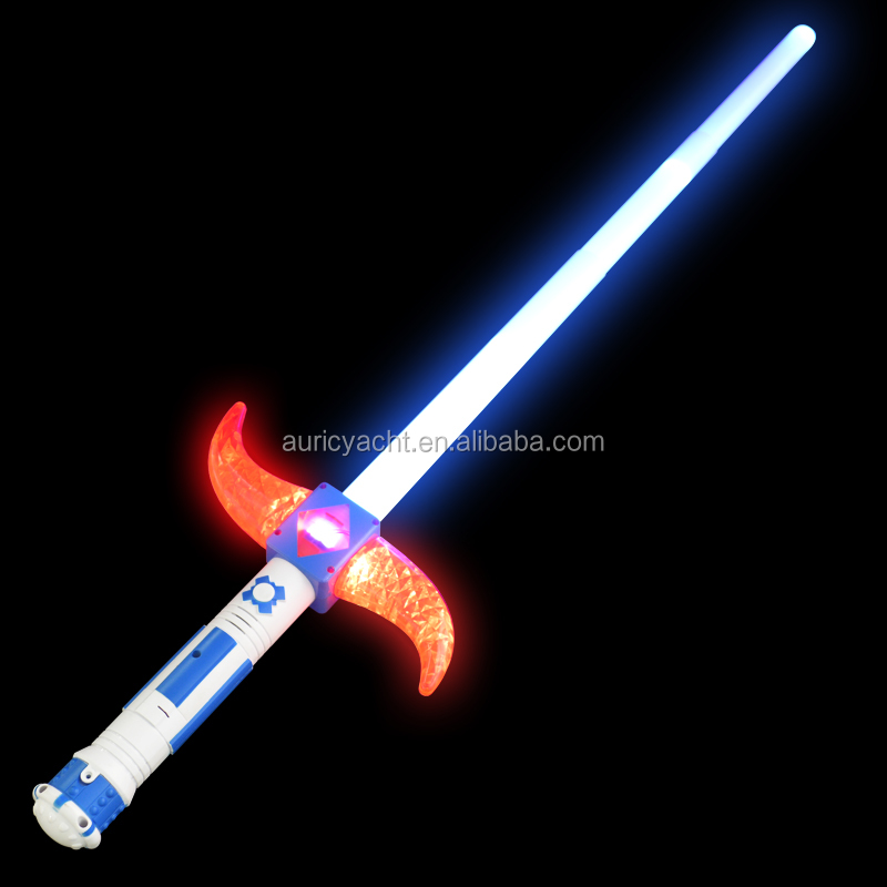 Wholesales LED Spinning Horms Extended Lightsaber