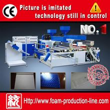 pe plastic foaming extruder bubble cushion film production line