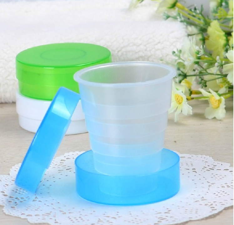 PP Foldable cup/travel cup/plastic water bottle with lid