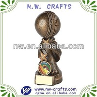 Polyresin cricket sports trophy cup crafts