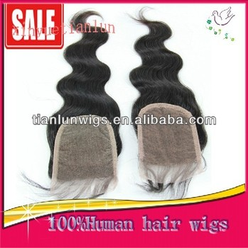 Wholesales-Full Hand Made Cheap Lace Human Hair Free Parting Top Closure 3.5x4 Size ,Body Wave Brazilian Virgin Human Hair