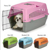 small dog cat pet travel crate lightweight pet carrier plastic wire kennel Cab