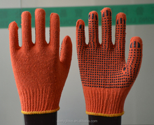 PVC dotted cotton gloves,PVC dotted saftey glove,white cotton glove