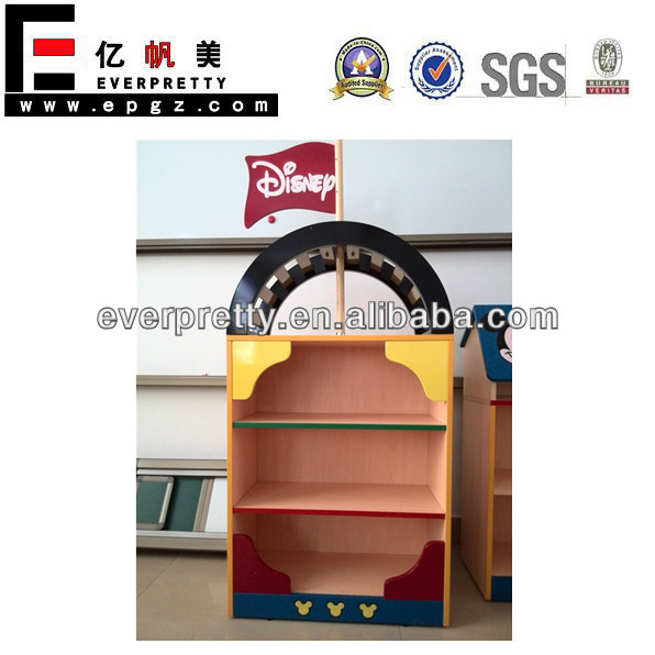 Preschool furniture, mickey mouse furniture, child wooden shelves