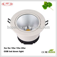 Factory direct 10w 15w 20w Epistar chip led down light fixtures with cool price