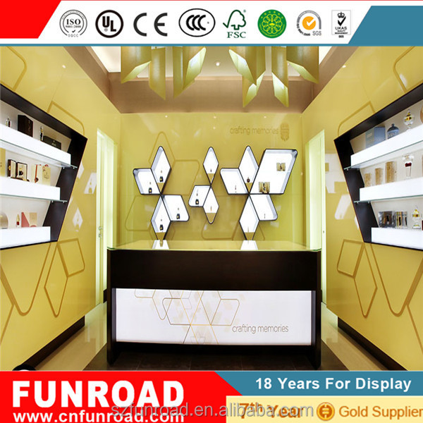 Retail store Perfume And Cosmetics Display Furniture