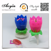 Chinese manufacturer wholesale funny lotus birthday candle