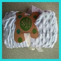 All seasons super soft 100 polyester minky dot minky dot baby blanket