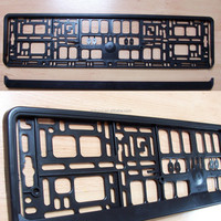 High quality plastic European license plate frame