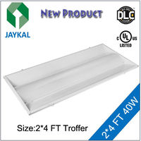 UL DLC lighting LED direct indirect troffer retrofit 2x2 2x4 24W 36W 40W 50W
