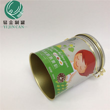 sell well coffee powder round canister jujube tinplate can