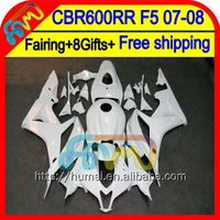 8Gifts Injection F5 For HONDA ALL White CBR 600RR 07 08 48HM78 CBR600 RR Glossy white 600 RR 07-08 CBR600RR 2007 2008 Fairing