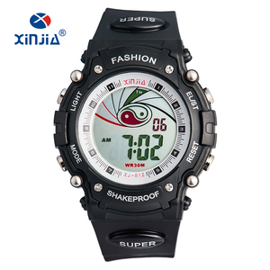 3 ATM Water Resistant Watch TPU Strap SHOCK Stainless Steel Case Back Mens Wrist Sport Watch XINJIA New Item
