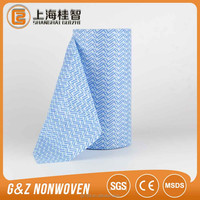 disposable household cleaning wipes perforated rolls wave printed spunlace