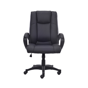Durable cheap staff pu swivel office staff chair with soft pad