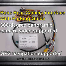 Rear camera Interface with parking guide for Benz all series( except s), 360-degree panoramic camera video supported, gps