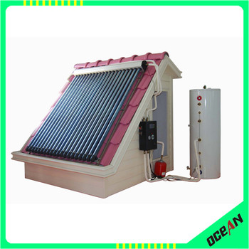split pressure solar water heater with good quality low price collector, expansion tank working station and water storage tank
