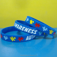 Wholesale Autism Awareness Silicone Wristbands Silicone