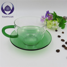 Handmade cheap thermo heat resistant borosilicate glass tea cup