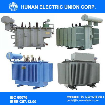 Three phases copper winding wound core low loss 22kv oil immersed power transformer