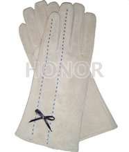 Fashion dress pigskin leather gloves