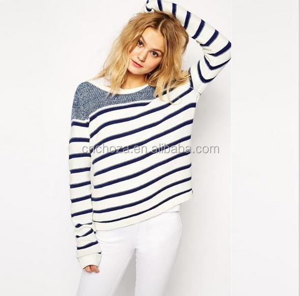 Z57834B European fashion women woolen sweater new designs for ladies pullover sweater casual knitted jumpers
