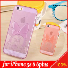 Good Smell 3D TPU Soft Transparent Cute Minnie Case Cover for Apple iPhone 5S 6 6plus Soft Carton Phone Bag