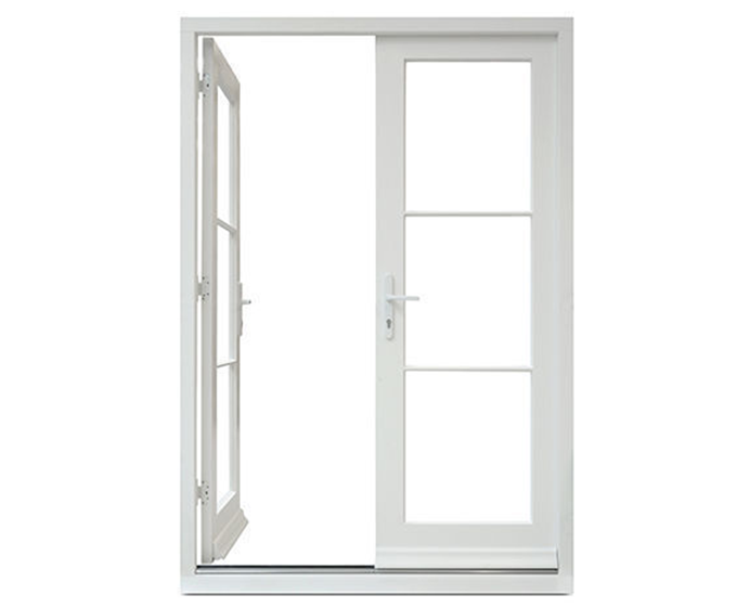 French Casement Inward Opening Aluminum Window