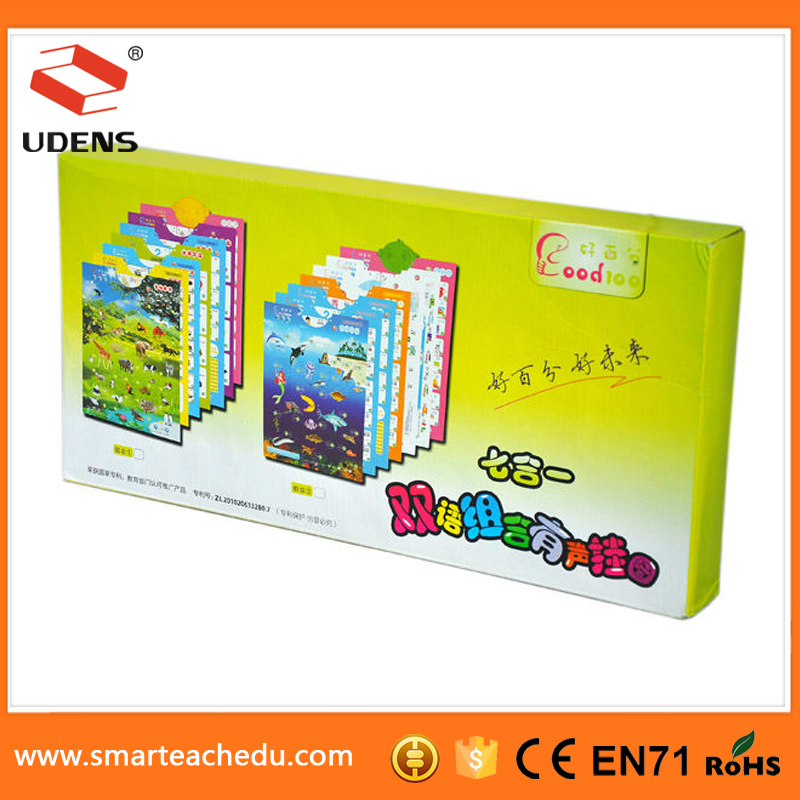 high quality low price India lalanguage transport learning electronic product for children sound wall picture