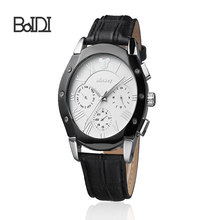 watch men leather boy fashion hand watch japan movt quartz watch stainless steel back