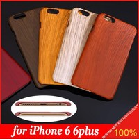 Classic Retro Wood Grain Bamboo Style PC Hard cheape mobile phone case for iPhone 5S 6 6plus