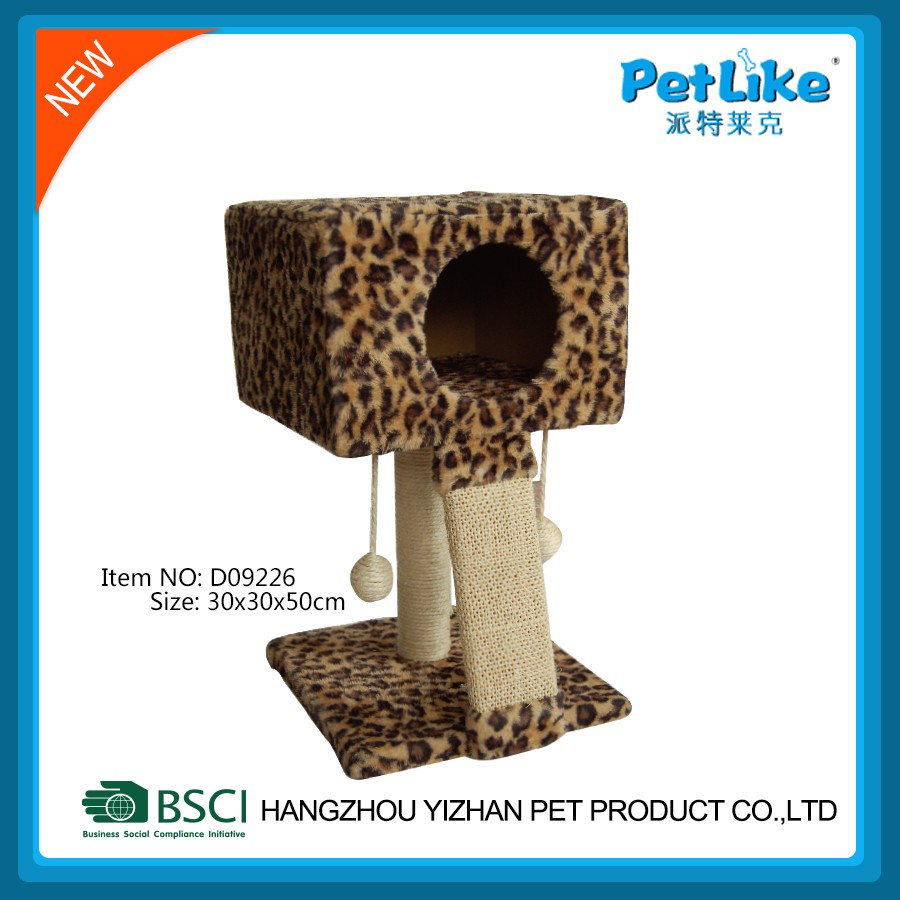 Sexy leopard print Wooden Cat Scratcher Tree Simple CatFurniture