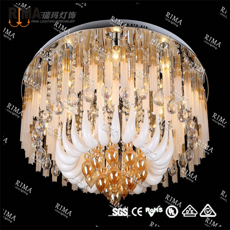 New RGB led crystal ceiling light for bedroom